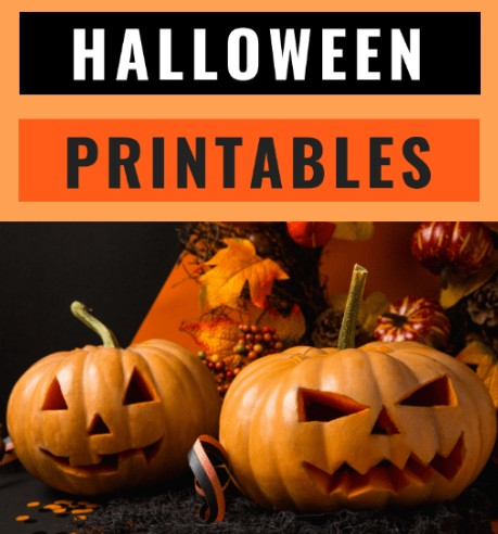 Halloween printables kids free