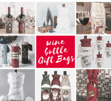 Christmas wine bottle gift bag ideas