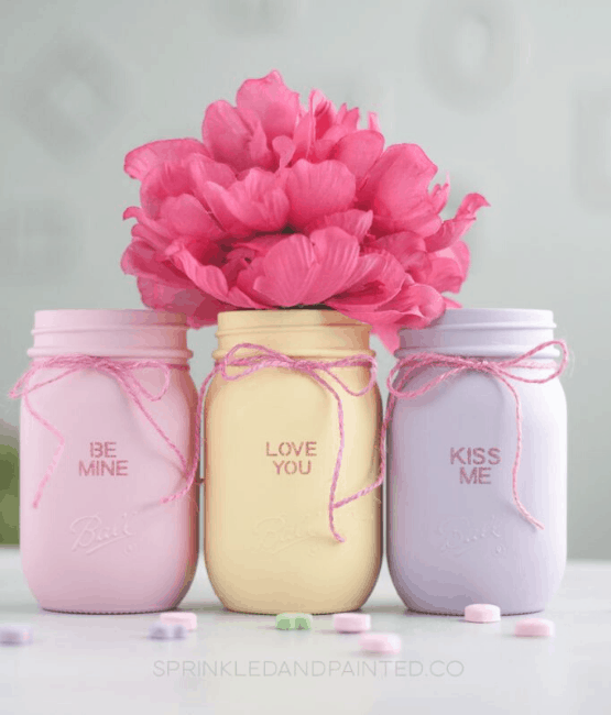 Easy Diy Valentines Day Mason Jars The Best Gifts For Valentines