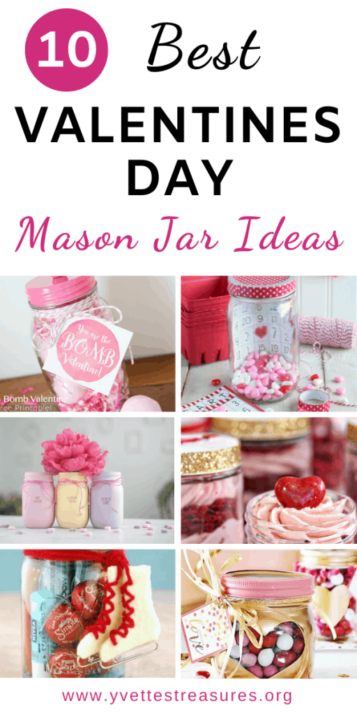 Valentines Day mason jars DIY