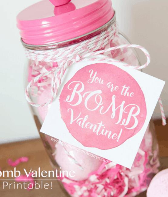 bath bomb valentine gift