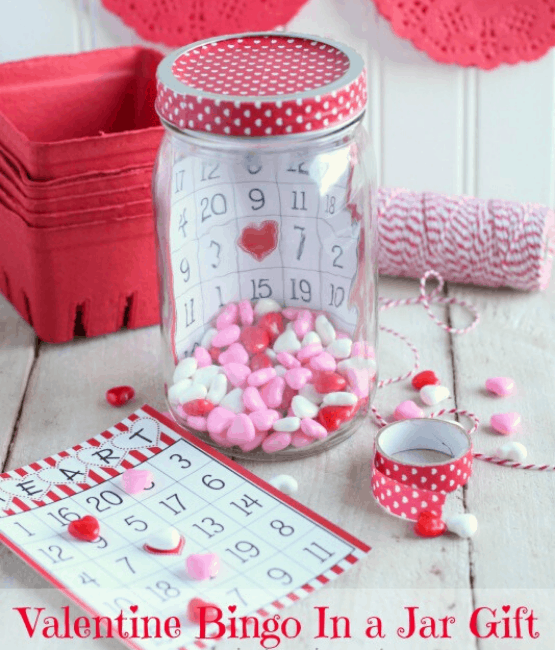 best mason jar gifts for Valentine