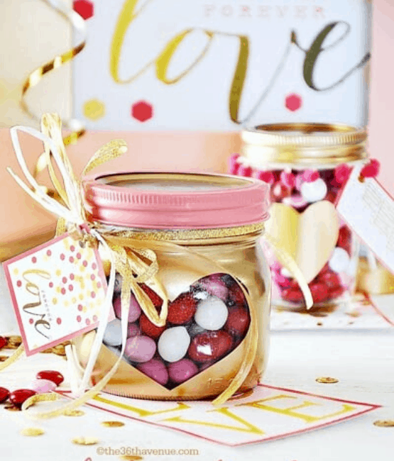 mason jar Valentine craft ideas
