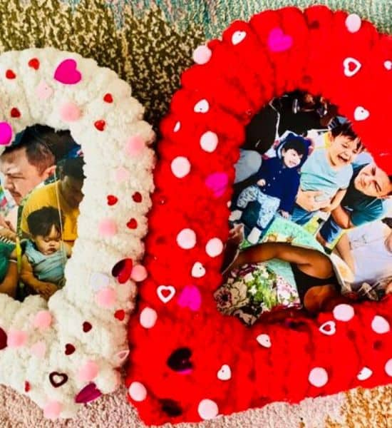 DIY Heart Wreath Photo Collage