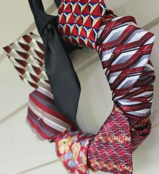 Repurposed Neckties Wreath