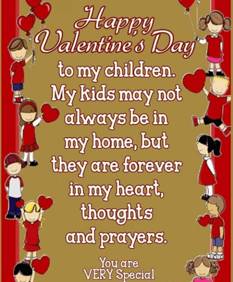 Valentine day quotes kids