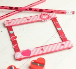 Easy Valentine Popsicle Stick Craft - Great For Kids To Make