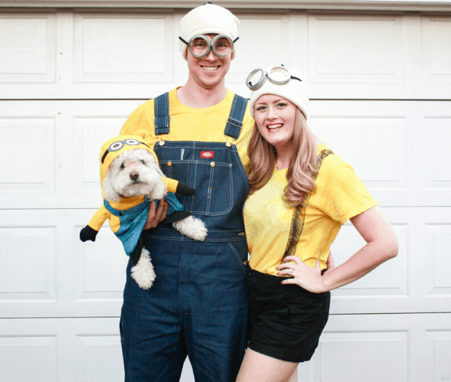 DIY Halloween minion costumes