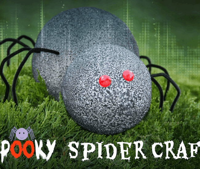 spooky spider craft ideas