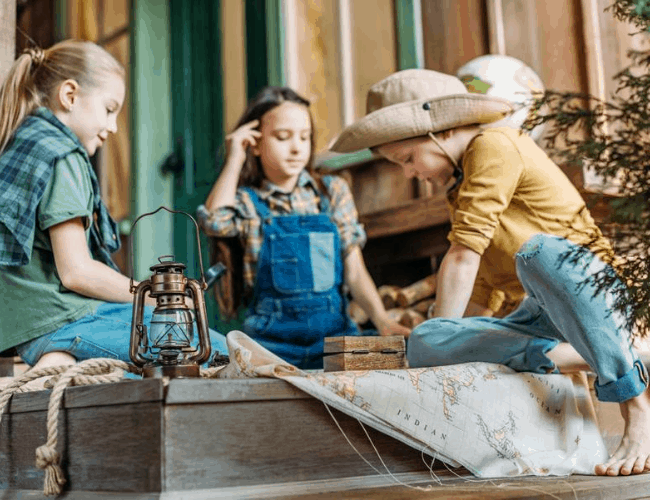 DIY scavenger hunt for kids
