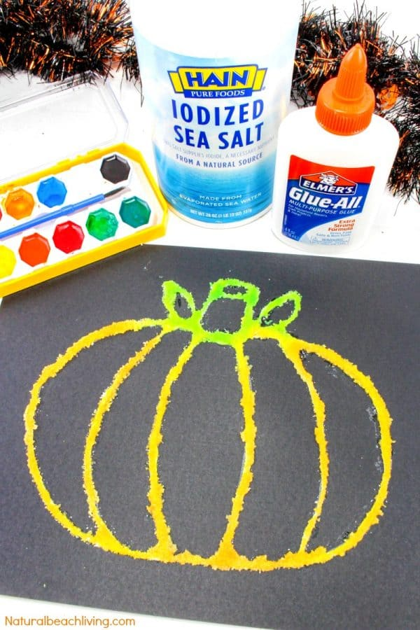 Halloween Pumpkin Salt Painting